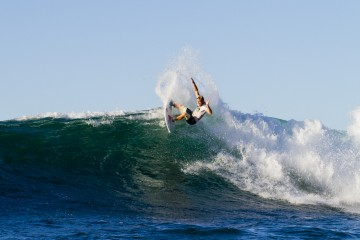 2014 Reef Hawaiian Pro Winner Dusty Payne Photo: Sean Riley