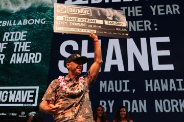 Shane Dorian of the USA (pictured) secured the Billabong Ride of the Year Award, as well as the Surfline Men's Overall Performance of the Year Award at the XXL Awards in Anaheim, California, USA on Saturday April 23, 2016. The 16th annual awards gala at the The Grove Theater in Anaheim celebrated the greatest rides of the past year and honored the icons of the big wave community.  PHOTO: © WSL / Wojcik This image is the copyright of  the World Surf League and is provided royalty free for editorial use only, in all media now known or hereafter created. No commercial rights granted. Sale or license of the images is prohibited. This image is a factually accurate rendering of what it depicts and has not been modified or augmented except for standard cropping and toning. ALL RIGHTS RESERVED.
