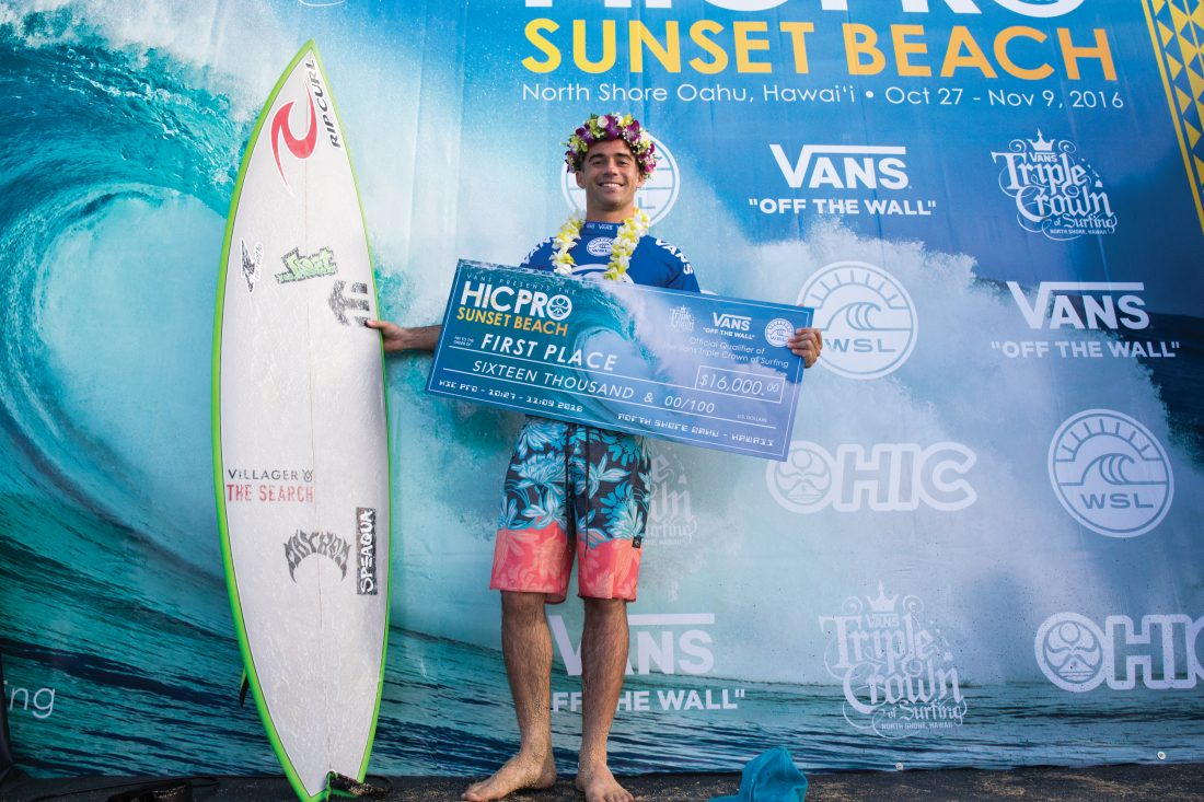 Hawaii's Mason Ho wins Vans HIC Pro winner on Day 3 Finals of the Vans HIC Pro 2016