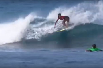 5409c9e697a2f4 Menehune Report   Luana Silva Surfing Kewalos in Honolulu - Freesurf  Magazine